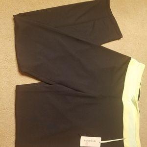 Tangerine exercise pants medium new green black